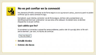 Avís del Firefox