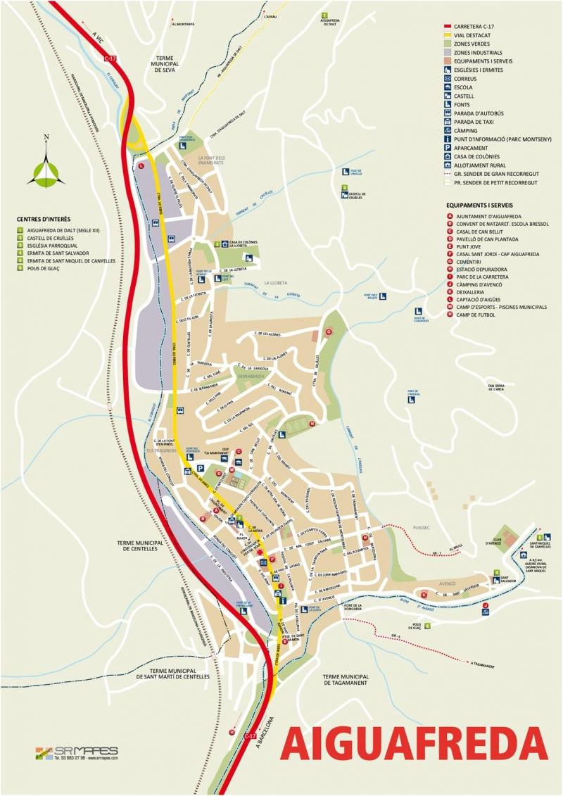 Mapa Aiguafreda